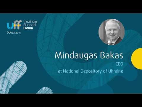 Ukrainian Financial Forum 2017 - Mindaugas Bakas, NDU -  capital market infrastructure panel