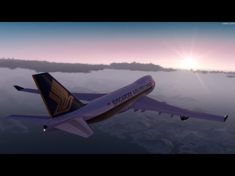 [P3D] Alaskan Sunrise in Anchorage | PMDG 747 Freighter Departure
