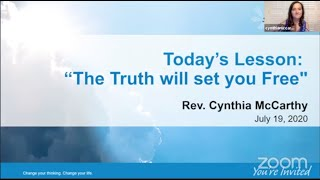 The Truth Will Set You Free By Rev. Cynthia McCarthy