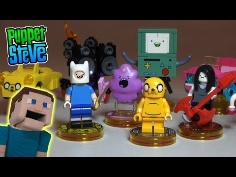 LEGO Adventure Time Lego Dimensions Level Team Pack Finn Jake BmO     LEGO Adventure Time Lego Dimensions Level Team Pack Finn Jake BmO Marceline  Unboxing Review