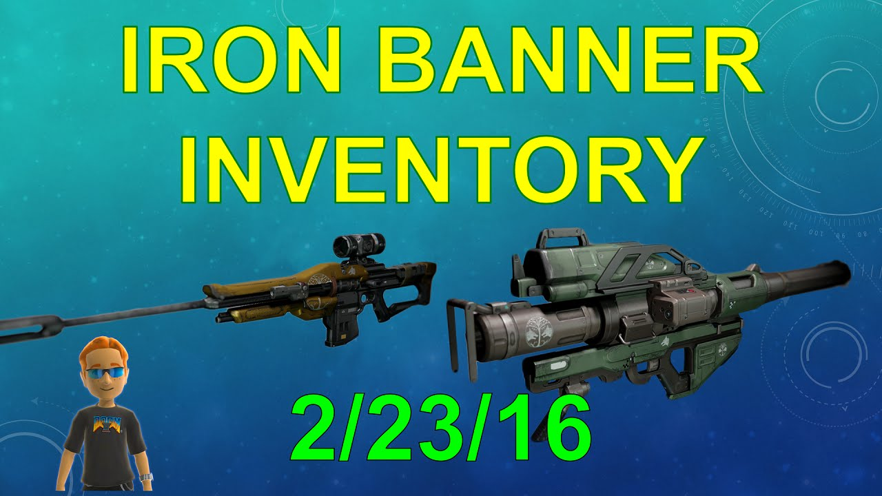 Best destiny primary weapons as of july 2015 - Destiny Iron Banner Inventory Recommendations Feb 23 Sniper And Rocket Launcher