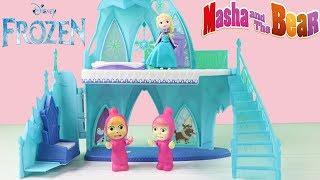 Maşa Oyuncak Bebek Türkçe Konuşuyor Frozen Elsanın Sarayında Neler Oluyor