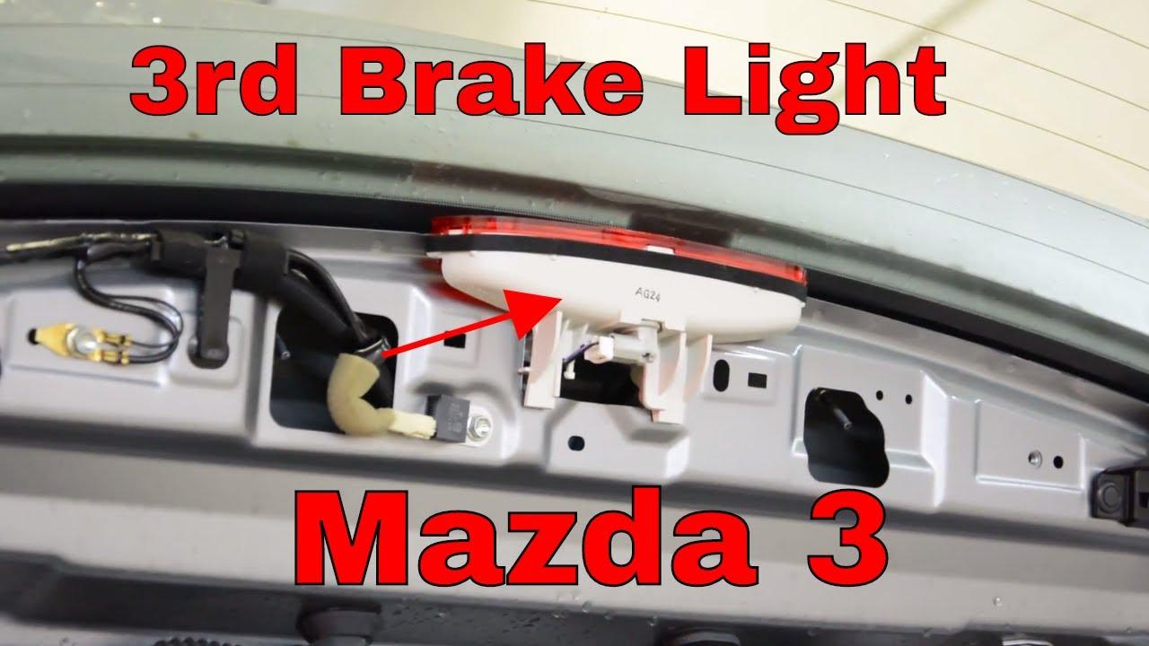 medium resolution of third brake light removal mazda 3