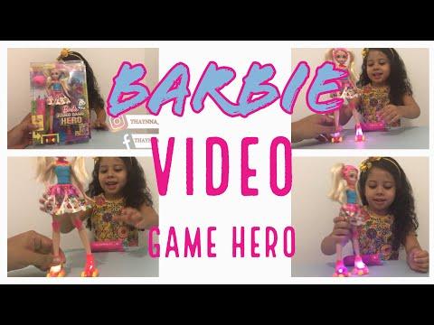 Barbie Video Game Hero Nova Boneca De Filme - Rainbow Skates, Lindo Com Luzes!! Abrindo E Brincando!