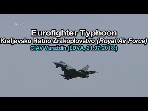 Eurofighter Typhoon-Royal Air Force (CIAV Varaždin 21.07.2018.)