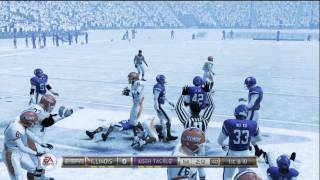 NCAA Football 12 gameplay: Illinois vs. Northwestern (Xbox 360) - Twitter @NCAAdynasty