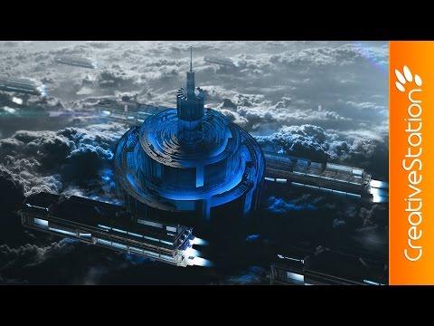 Sci-Fi Landscape - 3D Speed art (#Cinema4D, #Photoshop) | CreativeStation