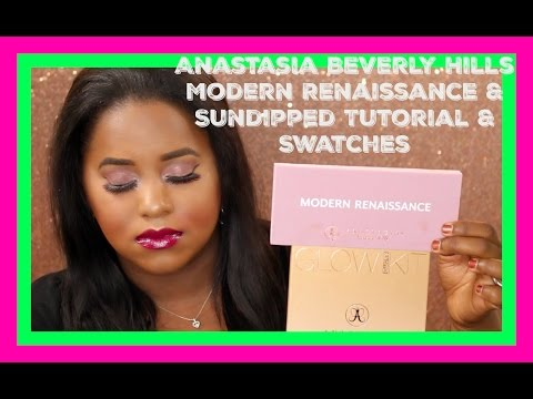 Anastasia Beverly Hills Modern Renaissance Palette & Sun Dipped Glow Kit - Tutorial & SWATCHES