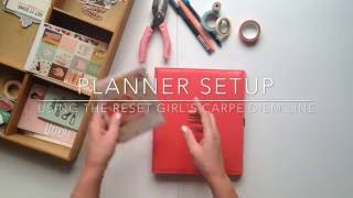 Planner Setup // using The Reset Girl Carpe Diem Collection