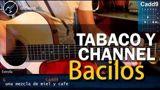 como tocar  tabaco y chanel  de bacilos en guitarra acustica  hd  tutorial   christianvib