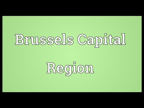 Brussels Capital Region Meaning