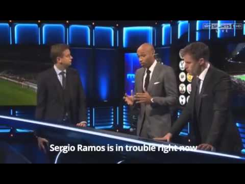 Thierry Henry explaining Pep Guardiola's philosophy on Sky Sports.