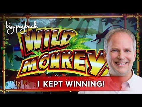 Wild Monkeys Slot - BIG WIN SESSION, LOVED IT! - 동영상