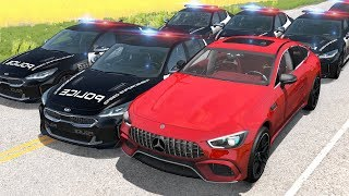 Police Chases vs Sports Cars crashes #17 - Beamng drive