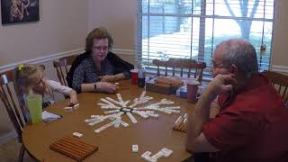 Playing Chicken Foot Dominoes