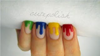 Dripping Paint Nail Art