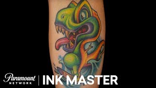 The Pregnant Dinosaur Tattoo - Ink Master: Redemption, Season 3