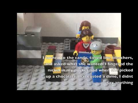 oranges by gary soto a lego video youtube. Black Bedroom Furniture Sets. Home Design Ideas