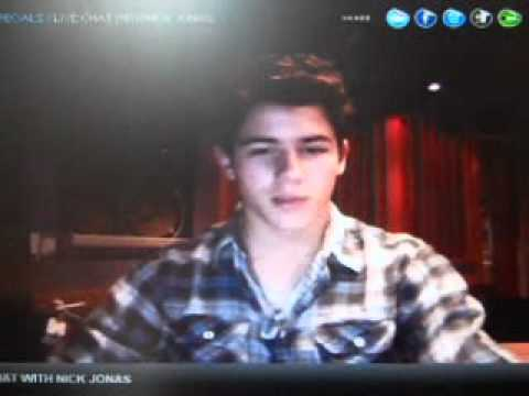 Nick Jonas Live Chat 2/26/2011 PART 3