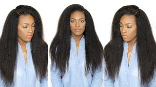 How I Install & Style Brazilian Kinky Straight Hair   Bestlacewigs