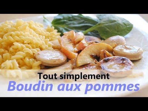 RECETTE facile & rapide : Boudin blanc aux pommes (light)