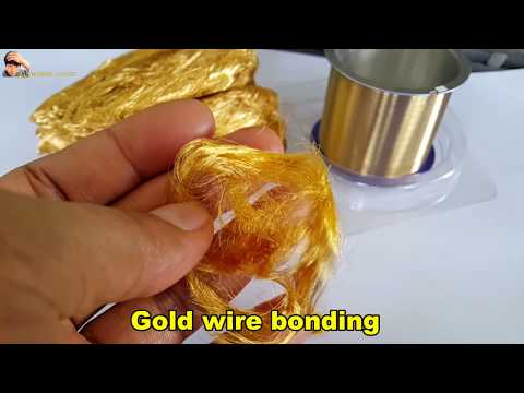 Melting and reusing gold wire bonding scraps. Melt the gold scraps. gold recovery.