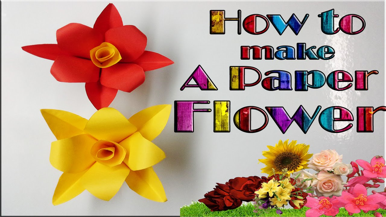 How To Make A Very Simple Paper Flower Paper Crafts Diy Valentine