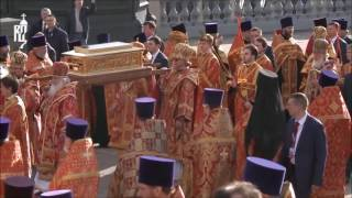 Orthodox Patriarch of Moscow welcomes Relics of St. Nicholas the Miracle-worker