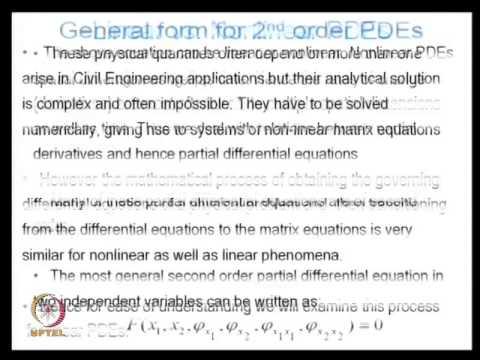 NPTEL :: Civil Engineering - Numerical Methods in Civil