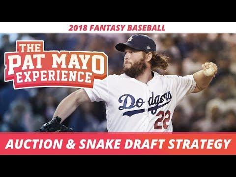 2018 Fantasy Baseball Strategy: Snake Drafts, Auctions