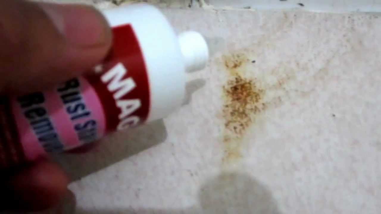 Magic rust stain remover in action bathroom tiles youtube dailygadgetfo Choice Image
