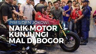 Jokowi Dikawal Kaesang Naik Motor ke Mall Botani Square Bogor, Warga Sempat Tak Menyadarinya