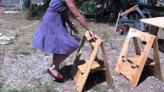 Folding Sawhorse Morhorse By Barclay Moore Kick Starter