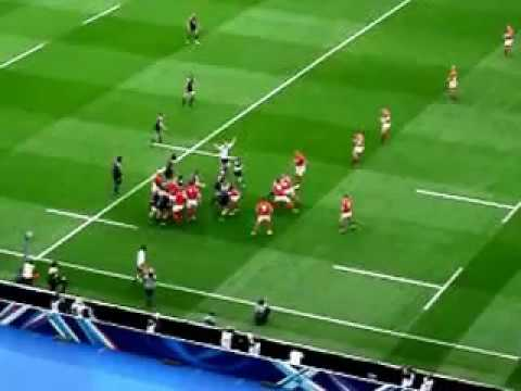 France v Wales 2017. France First TRY.
