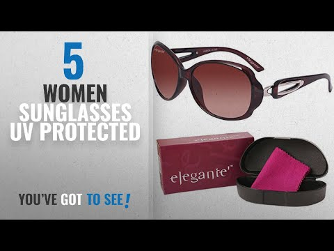 top-10-women-sunglasses-uv-protected-[2018]:-elegante-uv-protected-brown-oval-sunglasses-for-women
