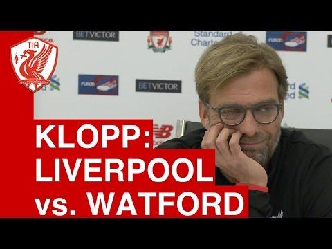 Jurgen Klopp pre-match press conference - Liverpool vs. Watford
