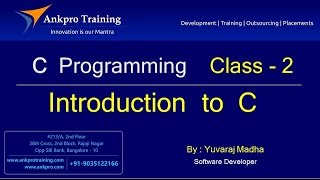 C language - Class 2 : Introduction  to  C  programming