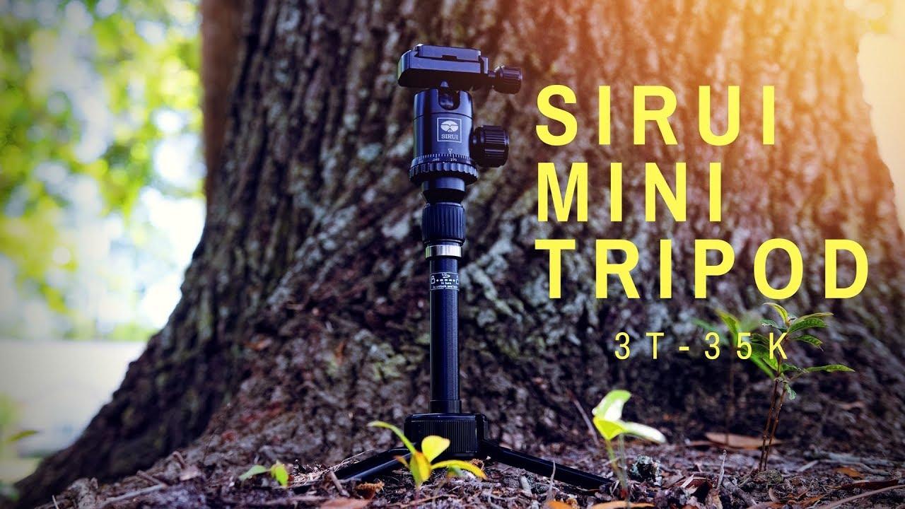 SIRUI 3T-35 Table Top//Handheld Video Tripod with Ball Head Black