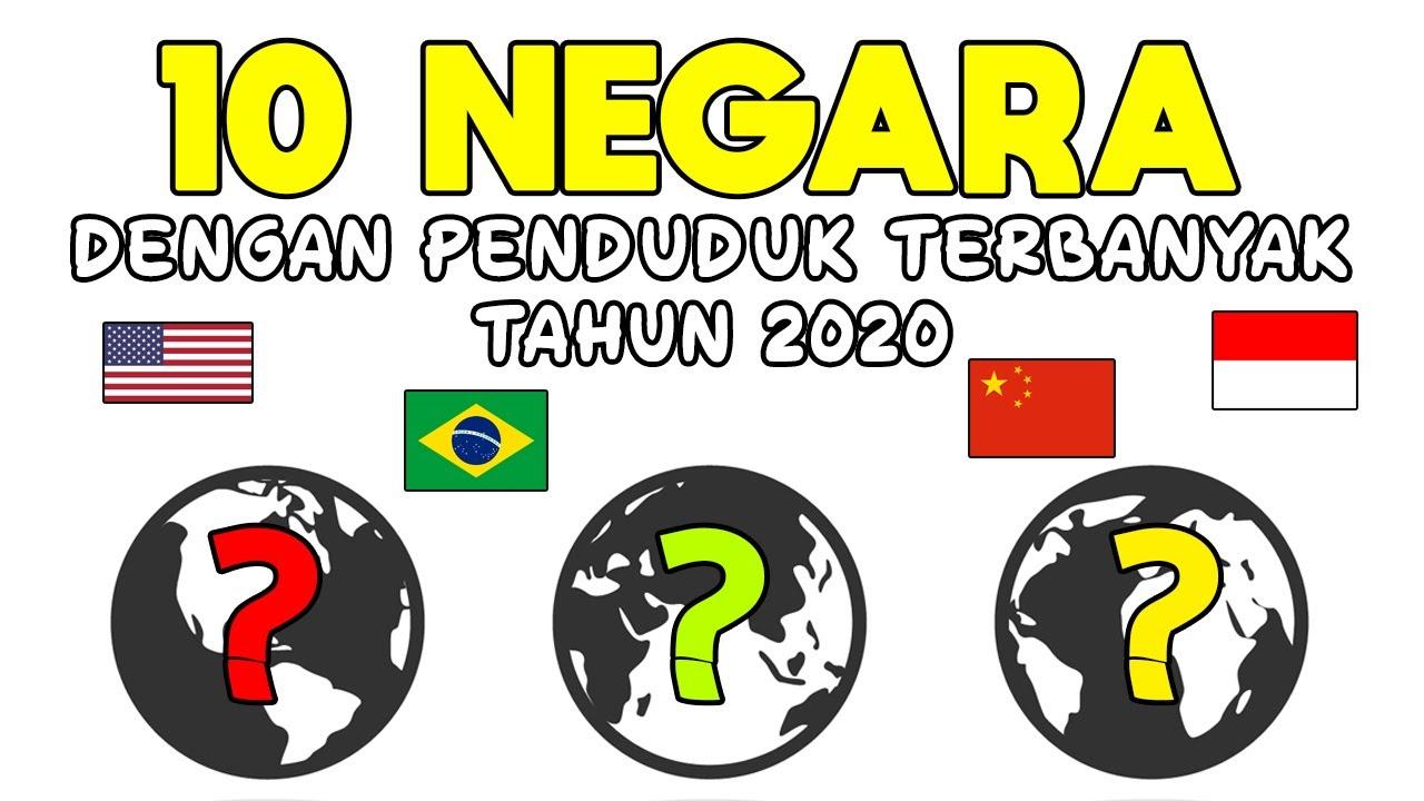 Wajib Tahu, 10 Negara dengan Penduduk Terbanyak Tahun 2020 !!!