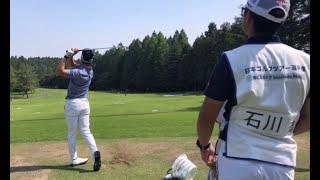 【男子ゴルフ】広報カメラによる練習場密着!日本ゴルフツアー選手権 森ビルカップ Shishido Hills