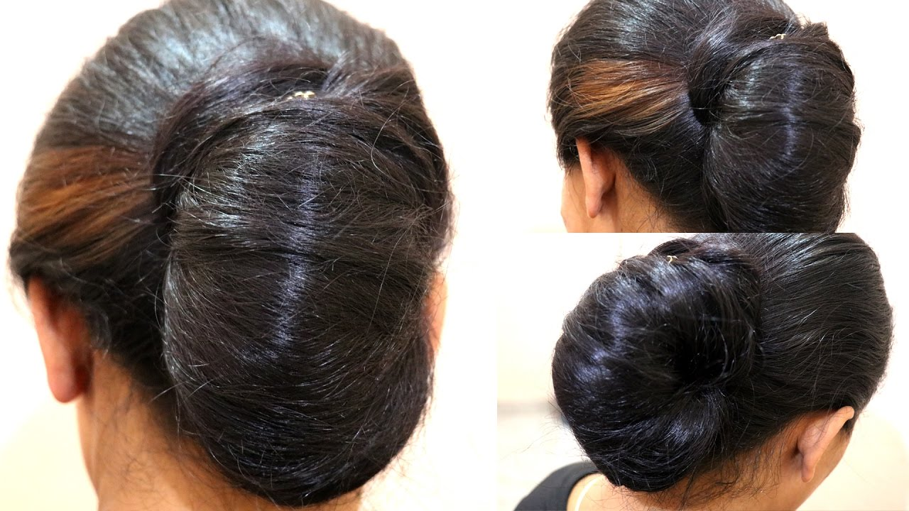 Simple Juda Messy Bun In A Minute Indian Wedding Juda
