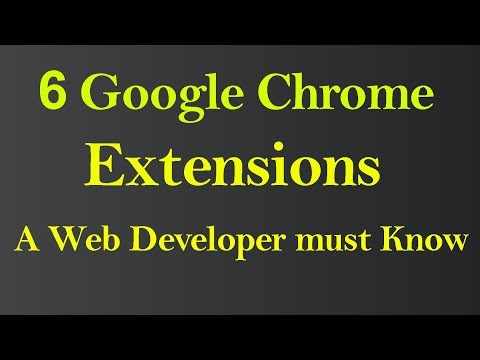 Google Chrome Extension For Web Developer (Hindi)