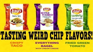 Lay's New Flavors Taste Test - Lays Chip Challenge 2017
