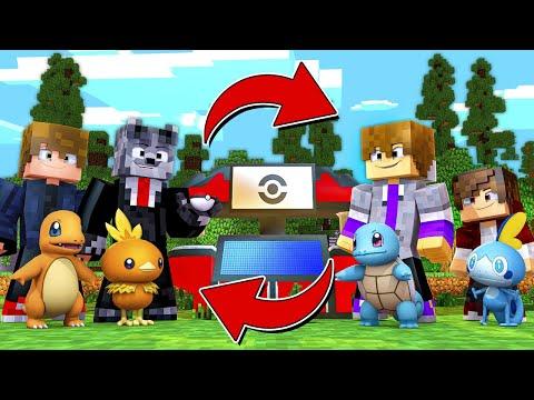 Minecraft : Pokémon Trade 1  TROCANDO OS POKÉMON INICIAIS COM MEUS AMIGOS NA NOVA SÉRIE!!