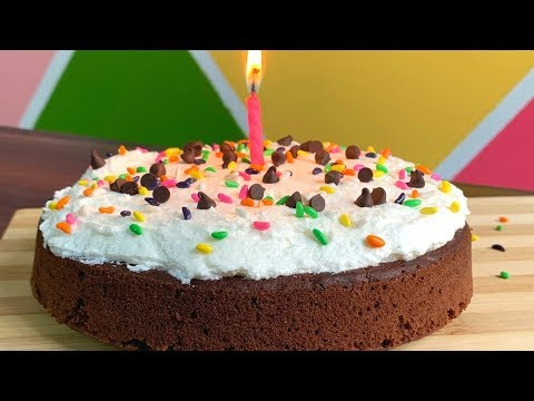 Basic chocolate cake with cream cheese frosting   Eggless chocolate sponge cake