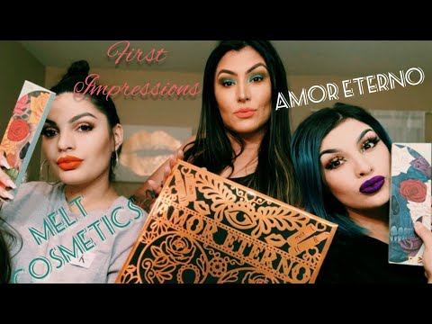 MELT COSMETICS AMOR ETERNO HOLIDAY COLLECTION! OMG! | First Impressions | ANDESA SISTERS