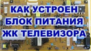 Как устроен блок питания ЖК телевизора. SONY KLV-40BX401.