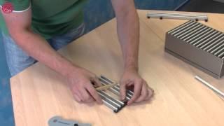 Резка и ремонт решётки Mohlenhoff(В данном видео показано как легко резать решетку под нужный размер конвектора, как заменить один вышедший..., 2013-09-10T06:23:07.000Z)