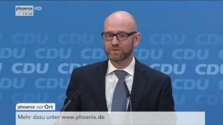 Parteipressekonferenz der CDU: Peter Tauber zu aktuellen Themen am 17.10.2016