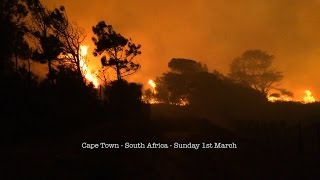 Devastating Cape Town Fires - March 2015
